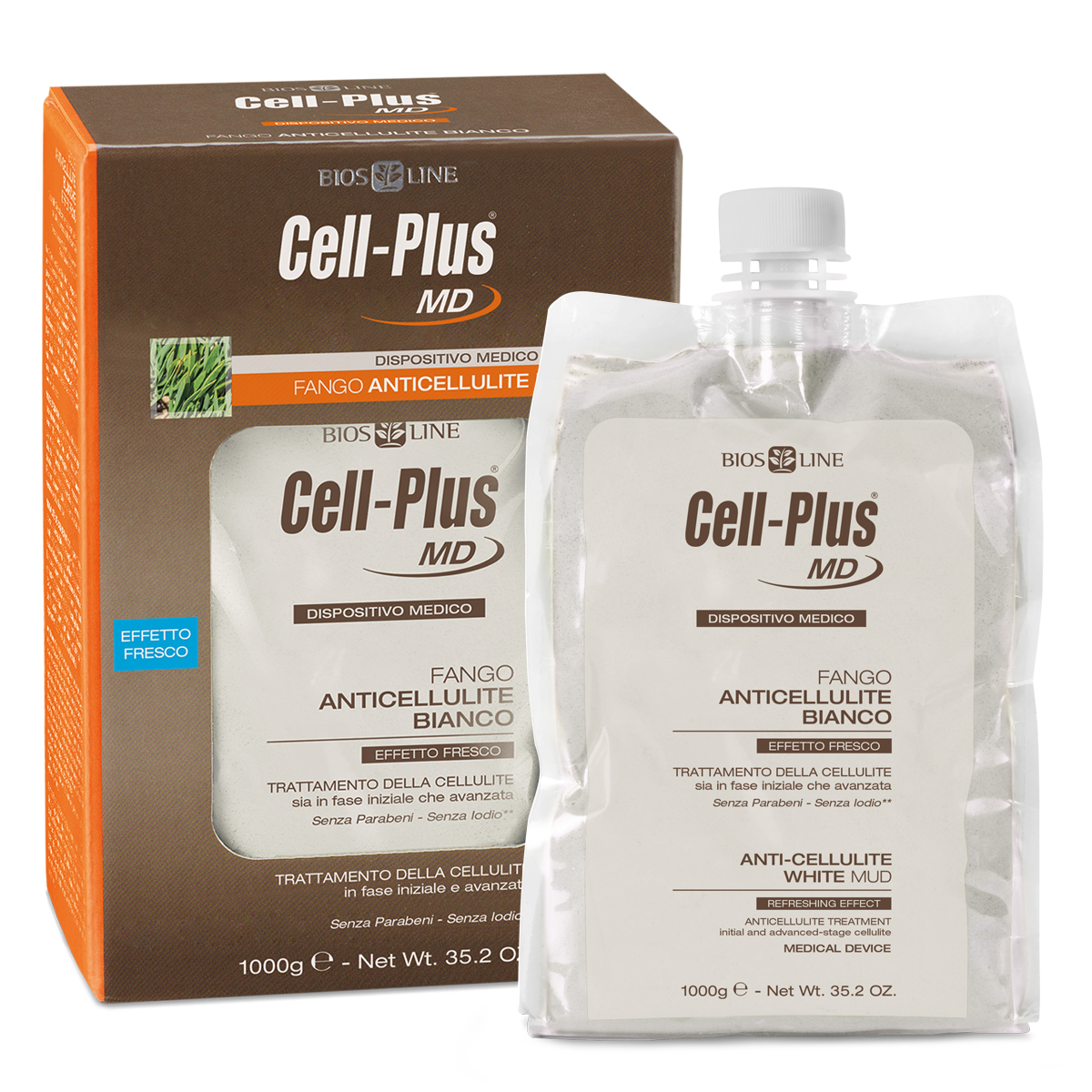 Cell-Plus MD Fango Anticellulite Bianco